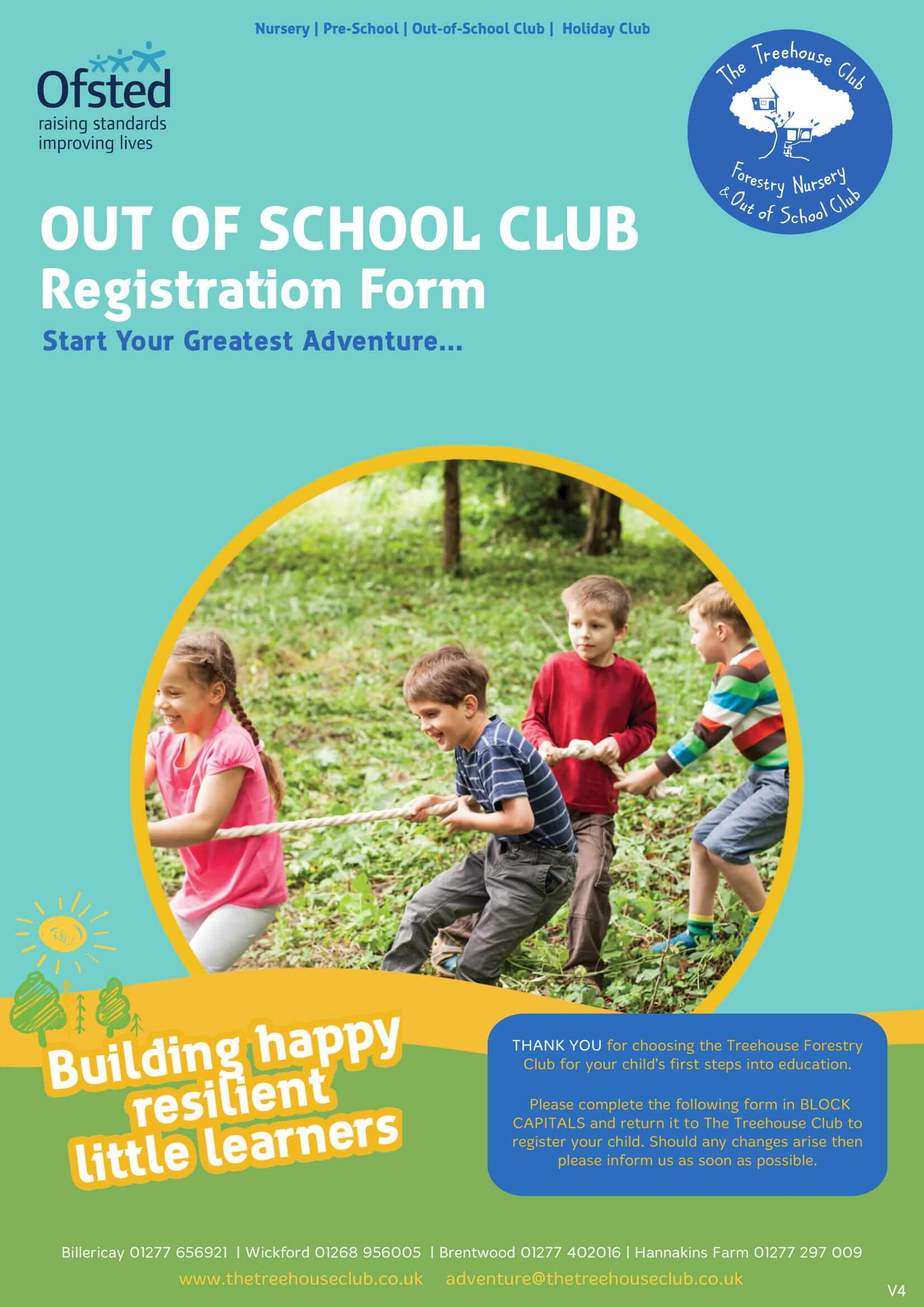 Treehouse Registration Holiday Club